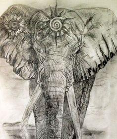 elephants, eleph tattoo, butterfli ear, tattoo design, eleph butterfli, ear tattoo, heart chakra, elephant tattoos, ink