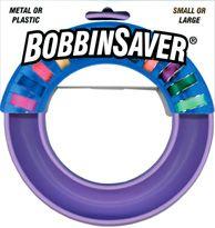 Bobbin saver, a rubber bobbin organizer.
