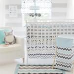 This adorable Aqua and Gray Chevron Baby Crib  bedding Set (also known as Aqua and Gray Zig  Zag) will make your nursery looking  spectacula...