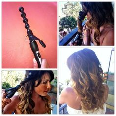 Bubblewand curling iron by Verge for a beachy wave.