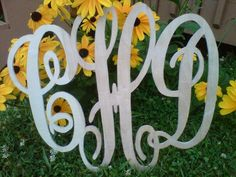 Wooden Monogram (via LaTda Sew Unique)