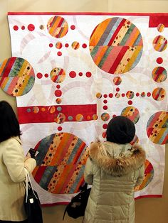 Tokyo Quilt Show by Robots-Dreams, via Flickr. 2009, photos by Tempusmaster - Robots Dreams (http://www.robots-dreams.com) dreams, art quilt, tokyo quilt, quilts, appliqué quilt, artist, circl quilt, modern quilt, japanes quilt