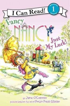 ER OCO. Seeing a four-leaf clover at a show-and-share, Fancy Nancy becomes superstitious and goes overboard trying to keep track of everything that is lucky and unlucky before deciding to settle on what she truly believes.