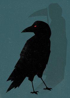 the raven, illustrations, word art, unnatur, spoken word