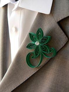 emeralds, green boutonnier, emerald green, wedding boutonnieres, coral weddings