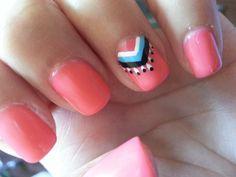 My Hippie Inspired Nails #nailart #dreamcatcher
