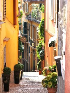 Street in Bellagio, Lake Como, Italy