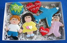 So cute! Gotcha Day Cookie Set with Airplane