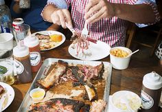 "Hometown Bar-B-Que: Chef Billy Durney has nailed a formula for New York barbecue: ""mostly Texas, a touch of North Carolina and Kansas City, but very Brooklyn."" http://nyr.kr/1qOrMsS (Photograph by Brian Finke)"