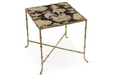 Gold Bamboo-Style Side Table on OneKingsLane.com