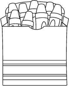 Crayon Outline Printable Images amp Pictures Becuo