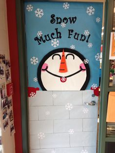 Winter Classroom Door...this one was easier than last year's. :)