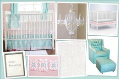 Cute girl's nursery