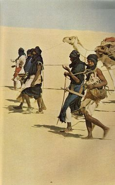 Tuareg cameleers, Niger. National Geographic November 1965. Victor Englebert