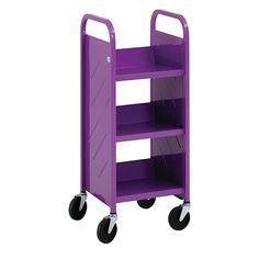 Demco.com - Demco® LibraryQuiet™ End-of-Range, Single-sided Booktruck