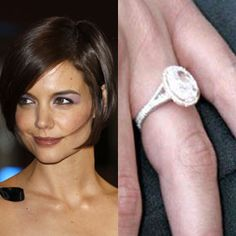 Katie Holme's engagement ring #engagementring #katieholme #engagement #celebrityengagement #wedding