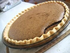 Chocolate Chess Pie; a recipe I've made many times but I use a grahm cracker crust.