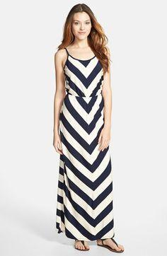 I got this navy and cream chevron maxi dress, and I love it!