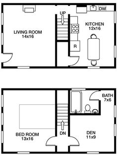 Floor Plan: Efficient, Small-Space Layout