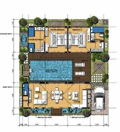 floor plan on pinterest villas bali style and houses