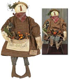 Peace & Plenty Scarecrow - Kruenpeeper Creek Country Gifts