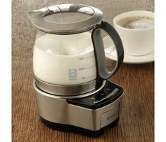 Capresso Froth Tech Milk Frother  Create thick, creamy froth, for hot or cold cappuccinos, hot chocolate and other milk specialties in just minutes.