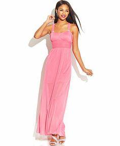 Speechless Juniors' Jewel-Trim Dress -- $79
