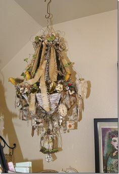 Diana Frey's studio chandelier