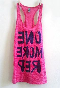 I need this!  One More Rep: Mirror tank!