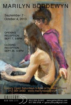 #Artist Marilyn Boddewyn. Solo #Exhibition at Gallery 35 NYC. September 7 - October 5, 2013