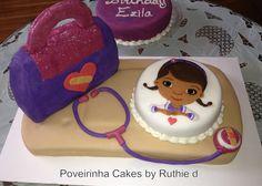 Doc McStuffins birthday cake idea Poveirinha Cakes by Ruthie d