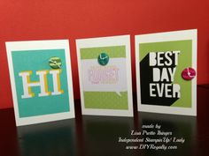 #Stampin'Up! #projectlife #PLxsu #cards