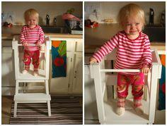 diy learning tower / little helper tower using ikea stool