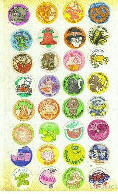 Scratch n sniff stickers.