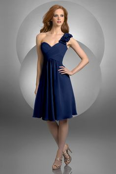 Style 432: Bridesmaids, Prom, Special Occasion & Evening: Bari Jay and Shimmer, navy