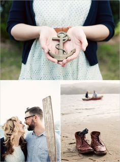 Nautical engagement photo ideas