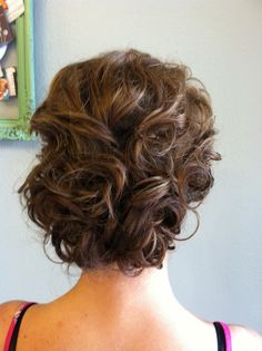 short hair, bridesmaid hair, engagement hair, hair wedding, prom hair, bridal hair, girl hairstyles, curly hair, formal hair