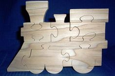 scroll saw train puzzle