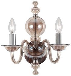 Translucent, cognac colored glass sconces - smashing in the powder room or anywhere.