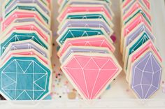gem parti, bridal shower ideas, kid birthdays, first birthdays, gem cooki, kid birthday parties, bridal showers