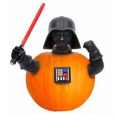 Darth Vader Pumpkin Push In - Halloween Pumpkin Carving Ideas