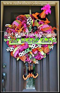HalloweenWreath, Halloween Wreath, Halloween Decoration, Witch Wreath, Witches, Witches Decoration, Witch Decor on Etsy, $200.00