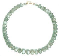 Big Aquamarine Bead Necklace