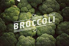 Broccoli typography Inspiration