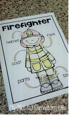October is Fire Safety Month...Fire Safety Themed Labeling activities and more