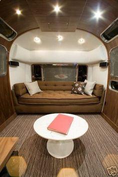 Such a slick interior. Airstream