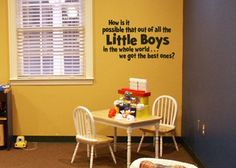 Wall decal boys brothers Out of all the little boys in the world. $28.00, via Etsy.