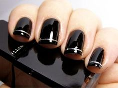 nail polish, fingernail designs black, nail arts, black nails, black gel nails designs, gel polish, black nail art designs, nail art designs black, classy nails 2014