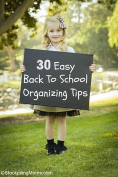 30 Easy Back To School Organizing Tips #BackToSchool #Organization #ad