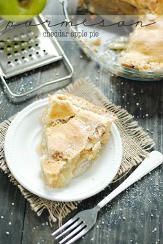 Parmesan Cheddar Apple Pie   www.somethingswanky.com